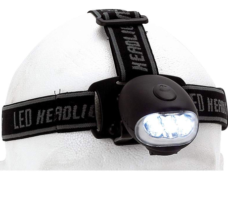 Crank-Powered LED Head Lamp