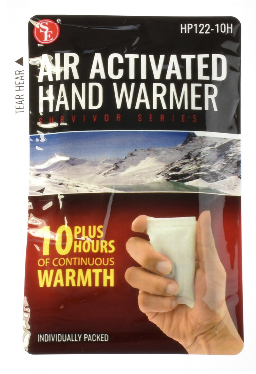 Qty 4 Air Activated Hand Warmers with 10 Plus Hours Heat