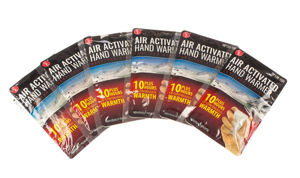 Qty 4 Air Activated Hand Warmers with 10 Plus Hours Heat - Click Image to Close