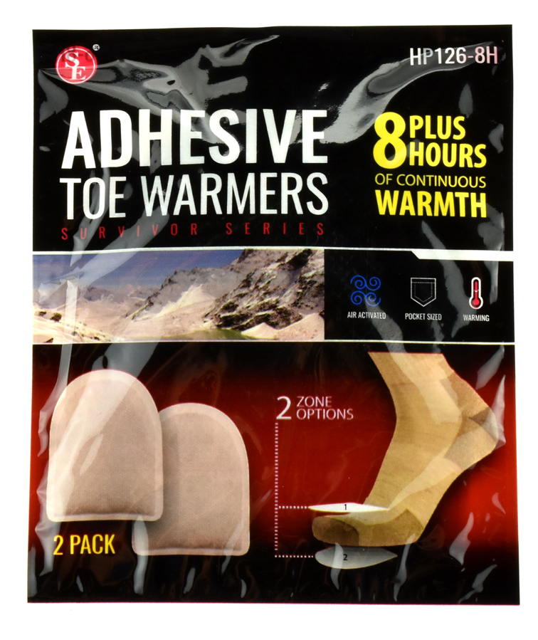 Qty 2 Pair Toe Warmer, Lasts 8-10 Hours