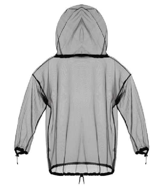 Fine Mesh Mosquito Jacket, Full Face Hood & Zipper ,L/XL