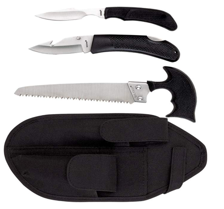 3-Pc Game Processing Saw and Knife Set