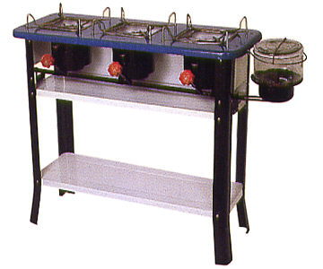 #2417 Triple Burner Stove with Legs
